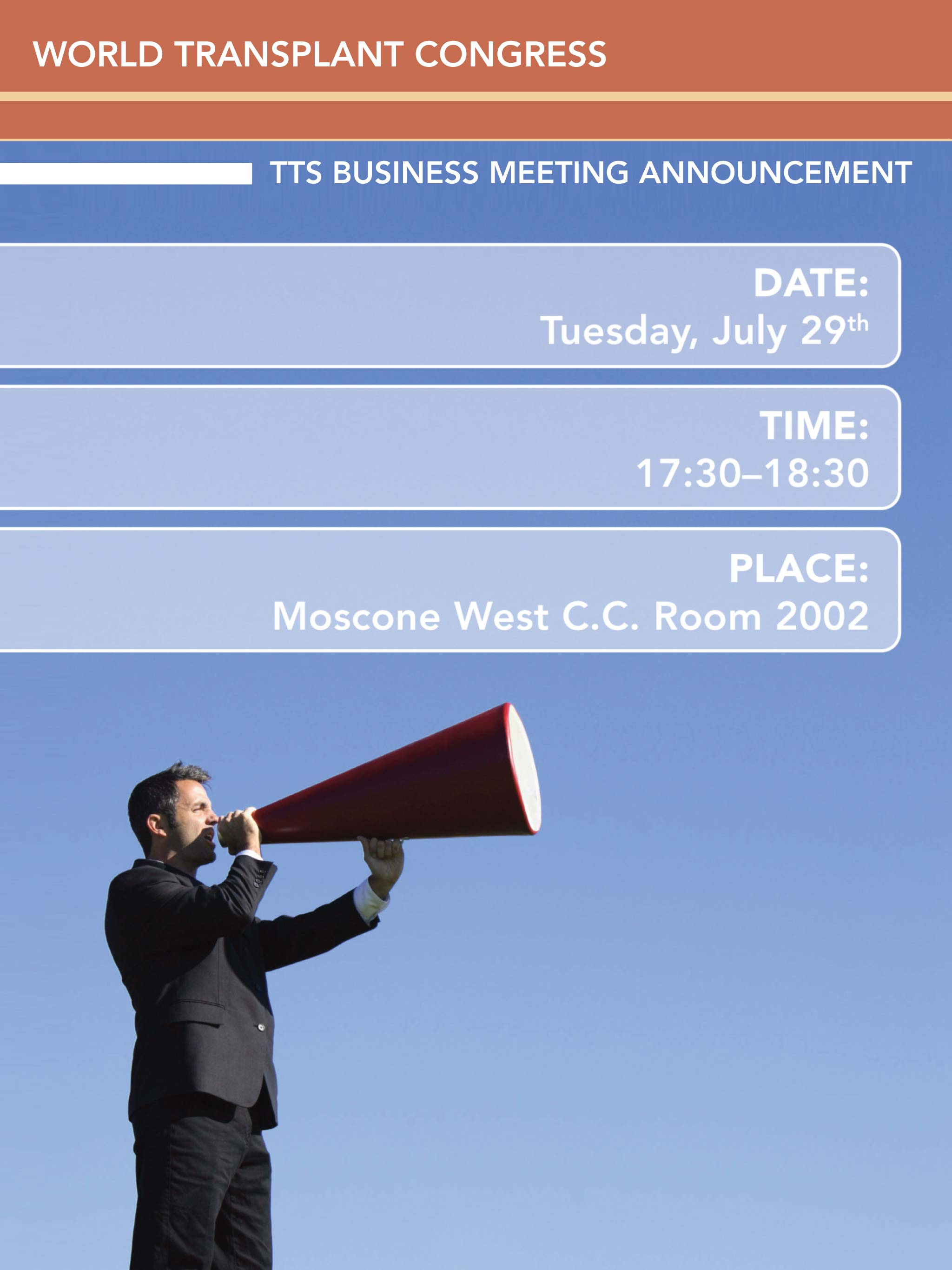 TTS BUSINESS MEETING ANNOUNCEMENT